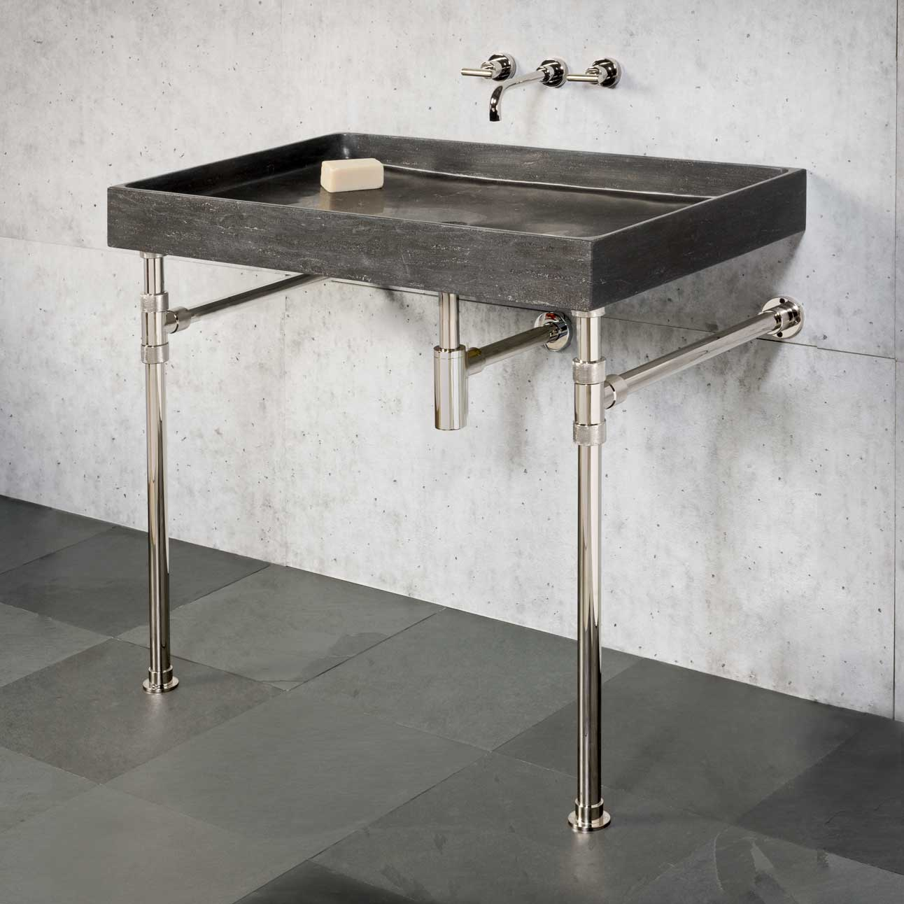 Ventus Bath Sink with Elemental Vanity Legs