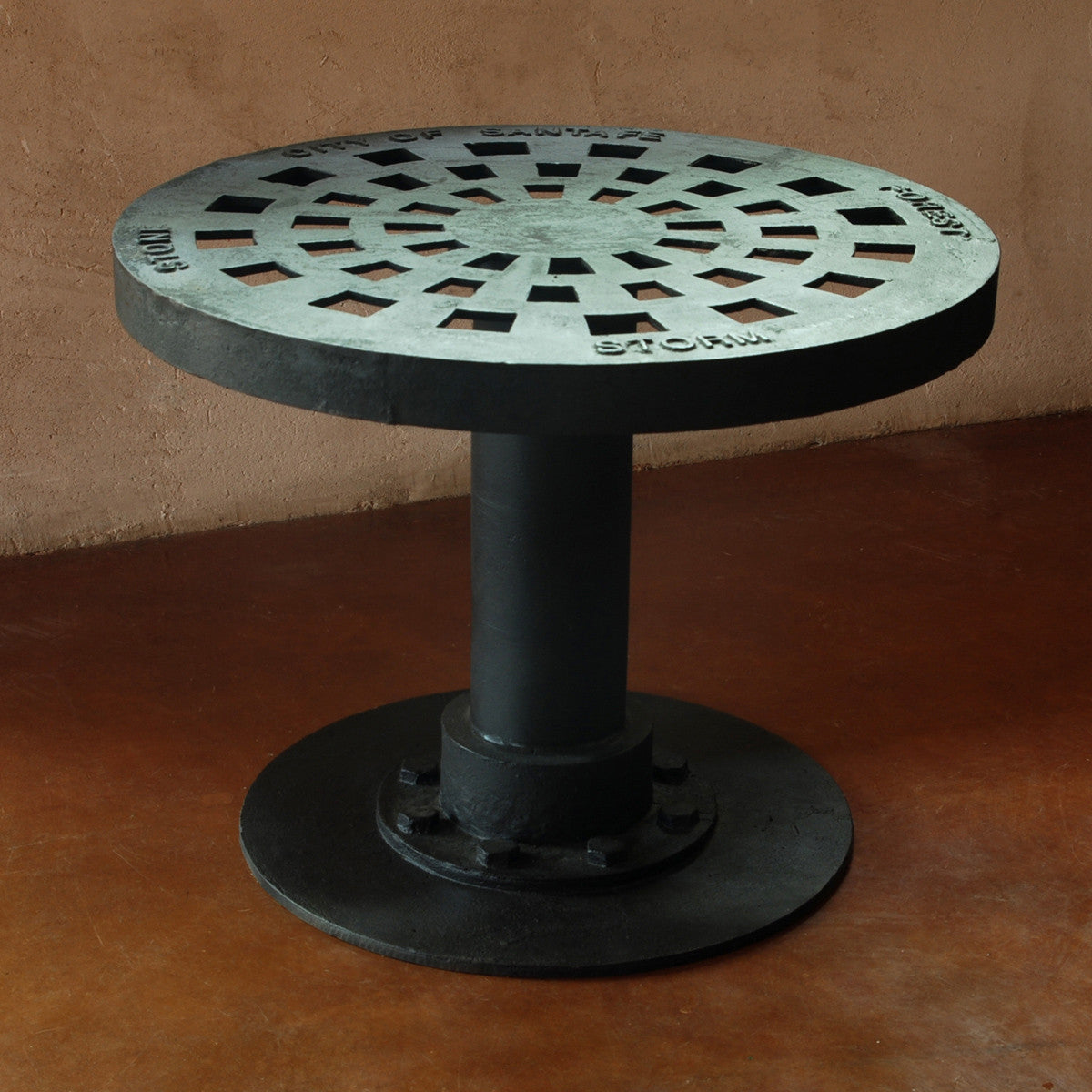 Manhole Cover Coffee Table, Cast Iron