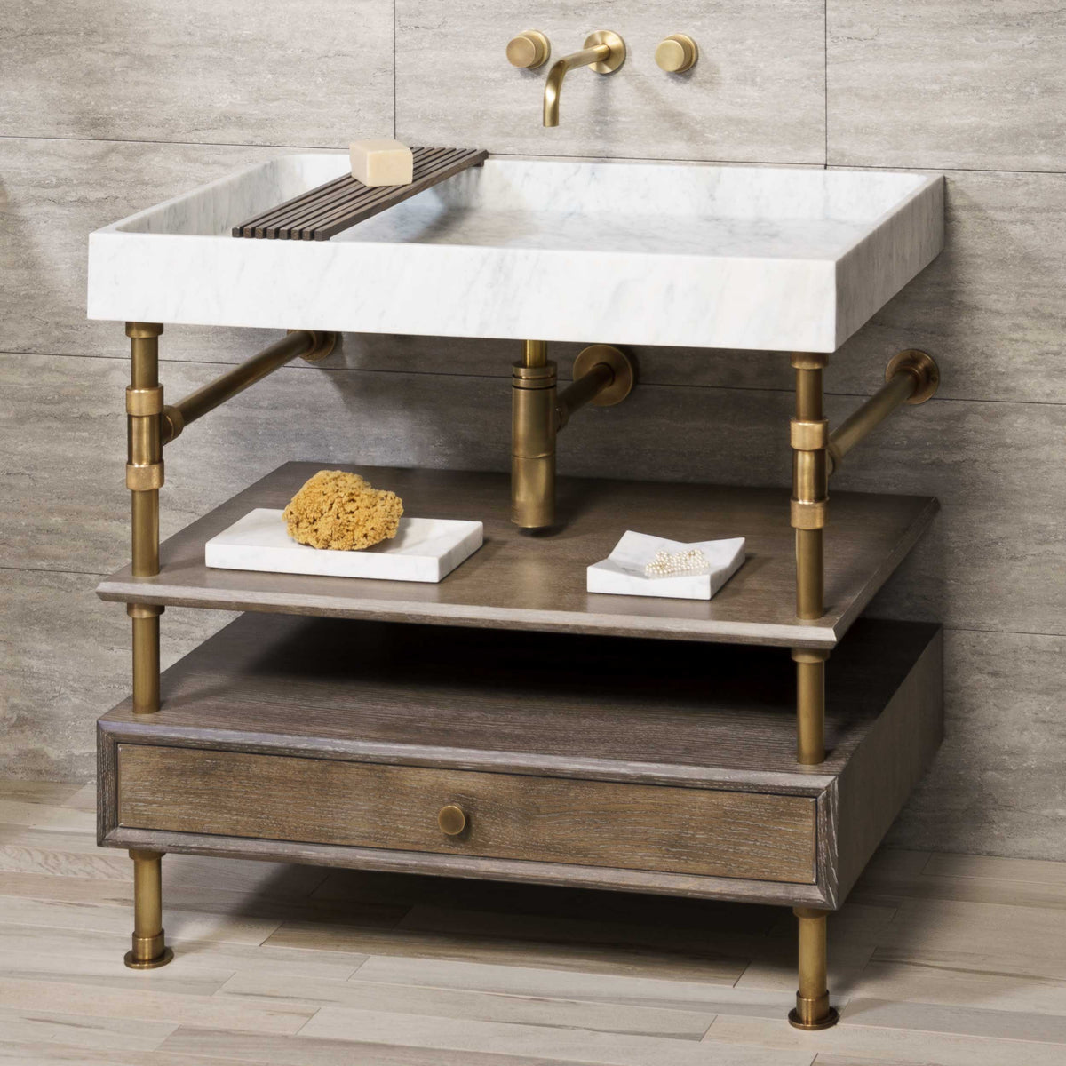 Ventus Bath Sink with Elemental Console Vanity