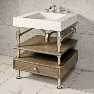 Terra Bath Sink with Elemental Console Vanity, 24