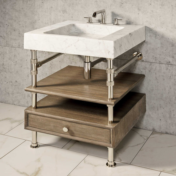 "Terra Bath Sink with Elemental Console Vanity, 24""W"
