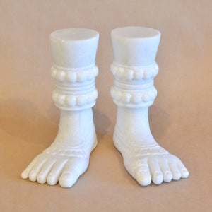 Buddhist Hands and Feet, White Marble