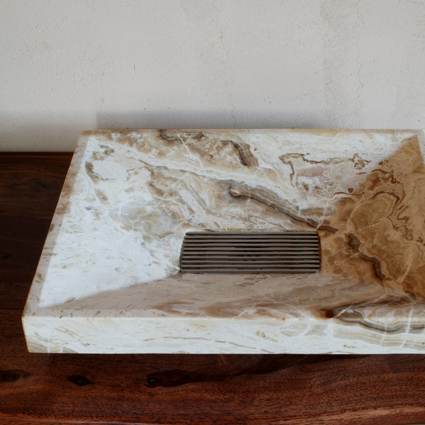 SYNC Drop-In Vessel Sink, Onyx Travertine