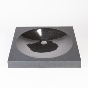 Metrio Countertop Vessel, Black Granite