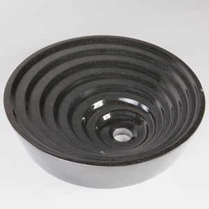 Ripple Vessel, Black Granite