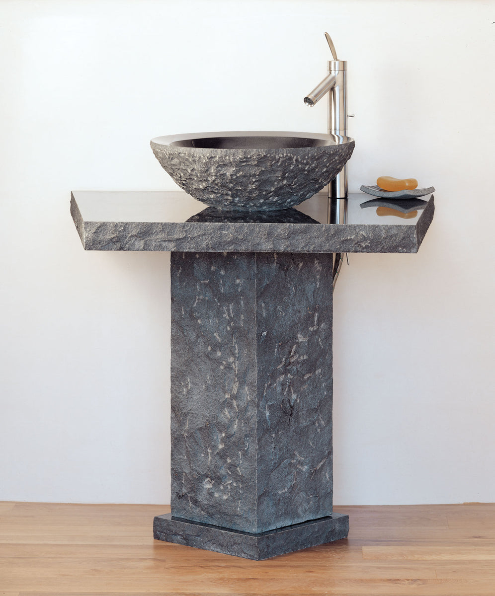 Vessel Pedestal and Pedestal Countertop