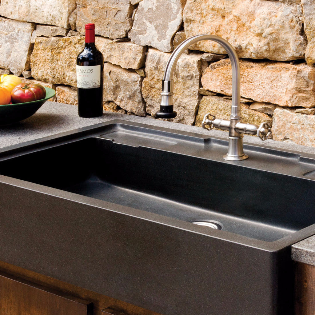 Image Of Kitchen Sink Stone Is a Stone Sink Right for Your Kitchen ...