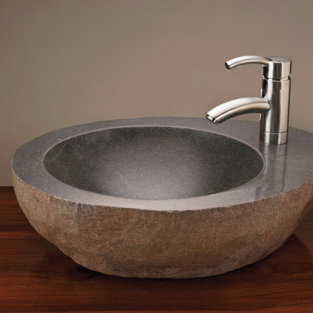 Natural Vessel with faucet mount