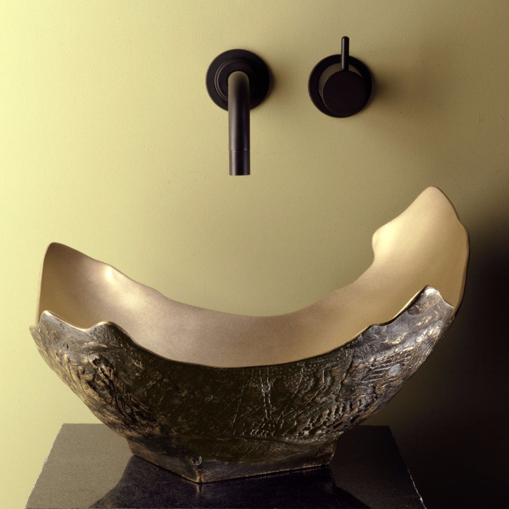 golden bronze chalice vessel sink