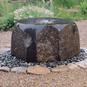 Garden fountain: Maru Fountain in our showroom yard.