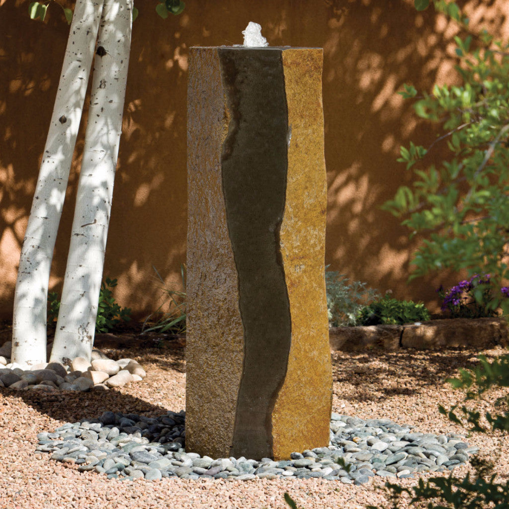 Basalt fountain in our garden gallery