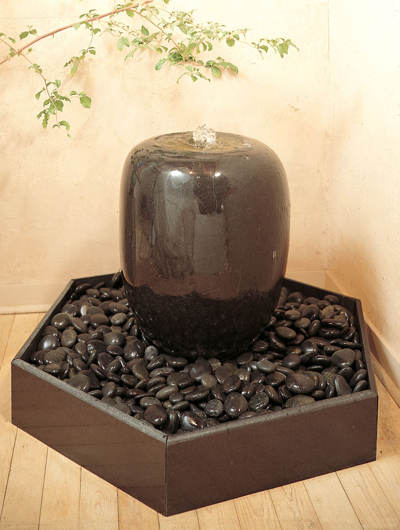 Polished Urn Fountain.