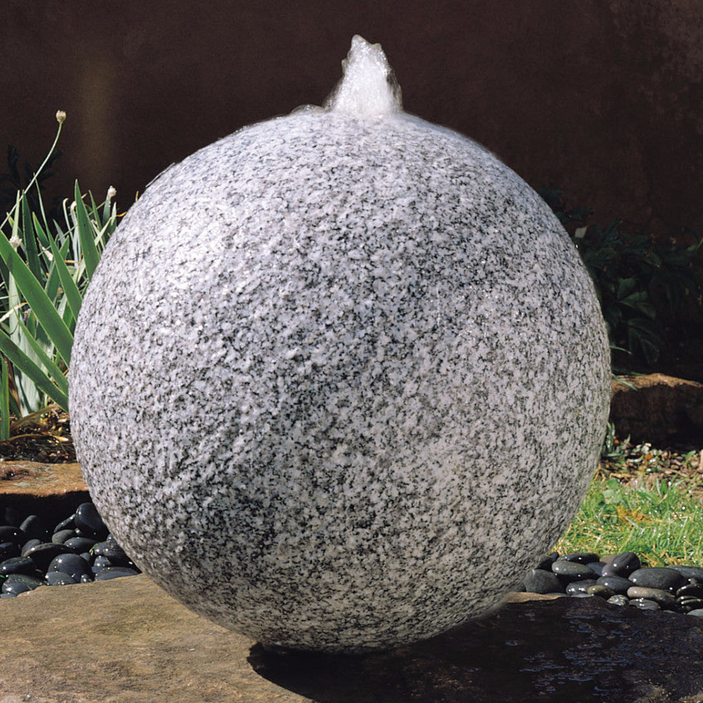 garden fountain: sphere fountain