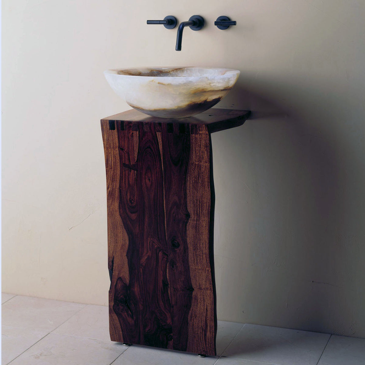 Wood L-Slab Pedestal