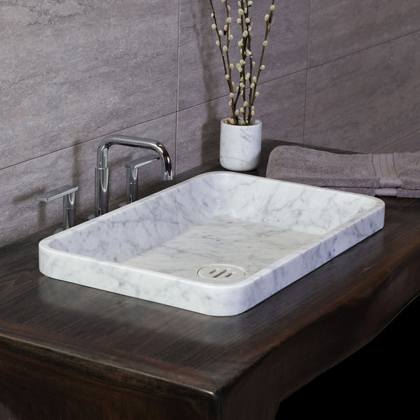 Rectangular Contour Drop In Sink