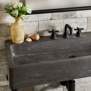 Elemental Trough Sink with Metal Tray, 36