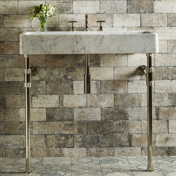 "Elemental Trough Sink on Elemental Vanity Legs, 36""W"