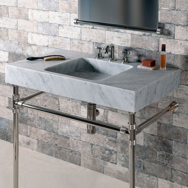 Elemental Crossbar Vanity and Terra Bath Sink