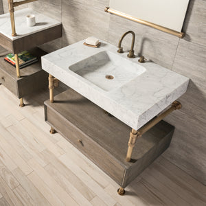 Terra Bath Sink with Elemental Drawer Vanity, 36