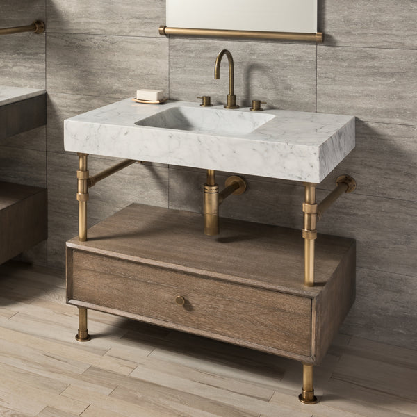 "Terra Bath Sink with Elemental Drawer Vanity, 36""W"