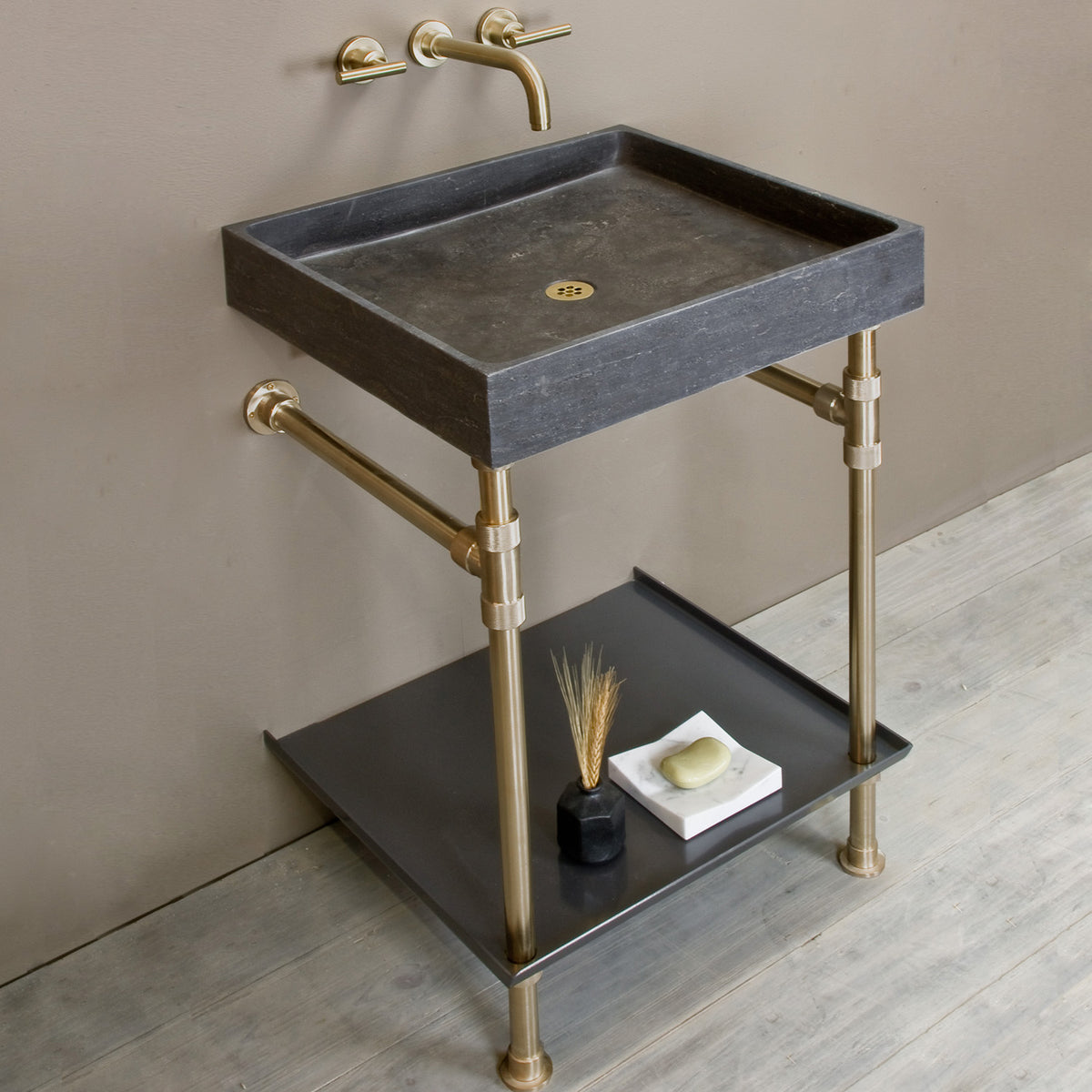 Ventus Bath Sink with Elemental Tray Vanity