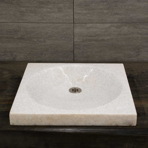 Metrio Vessel Sink, Athens Crystal White