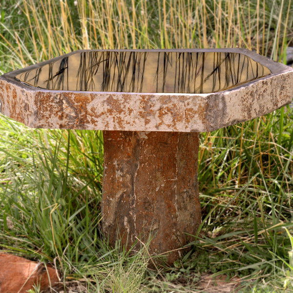 Basalt Bird Bath