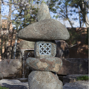 Natural stone large wabi lantern