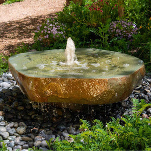 Natural Millstone Fountain, Irregular Shape