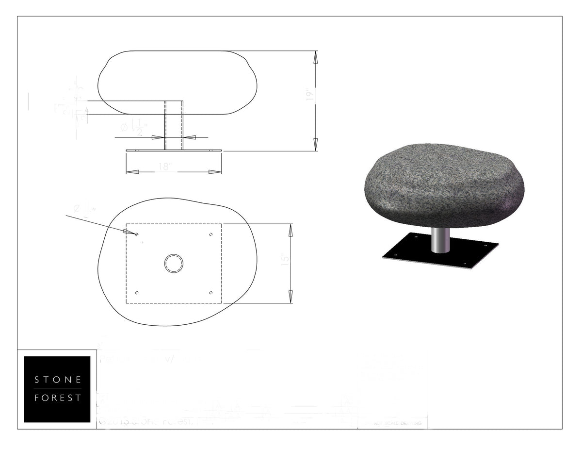 Iron Stand for Pebble Seat