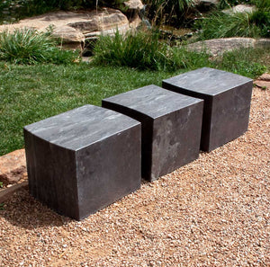stone forest solid modular outdoor benches limestone