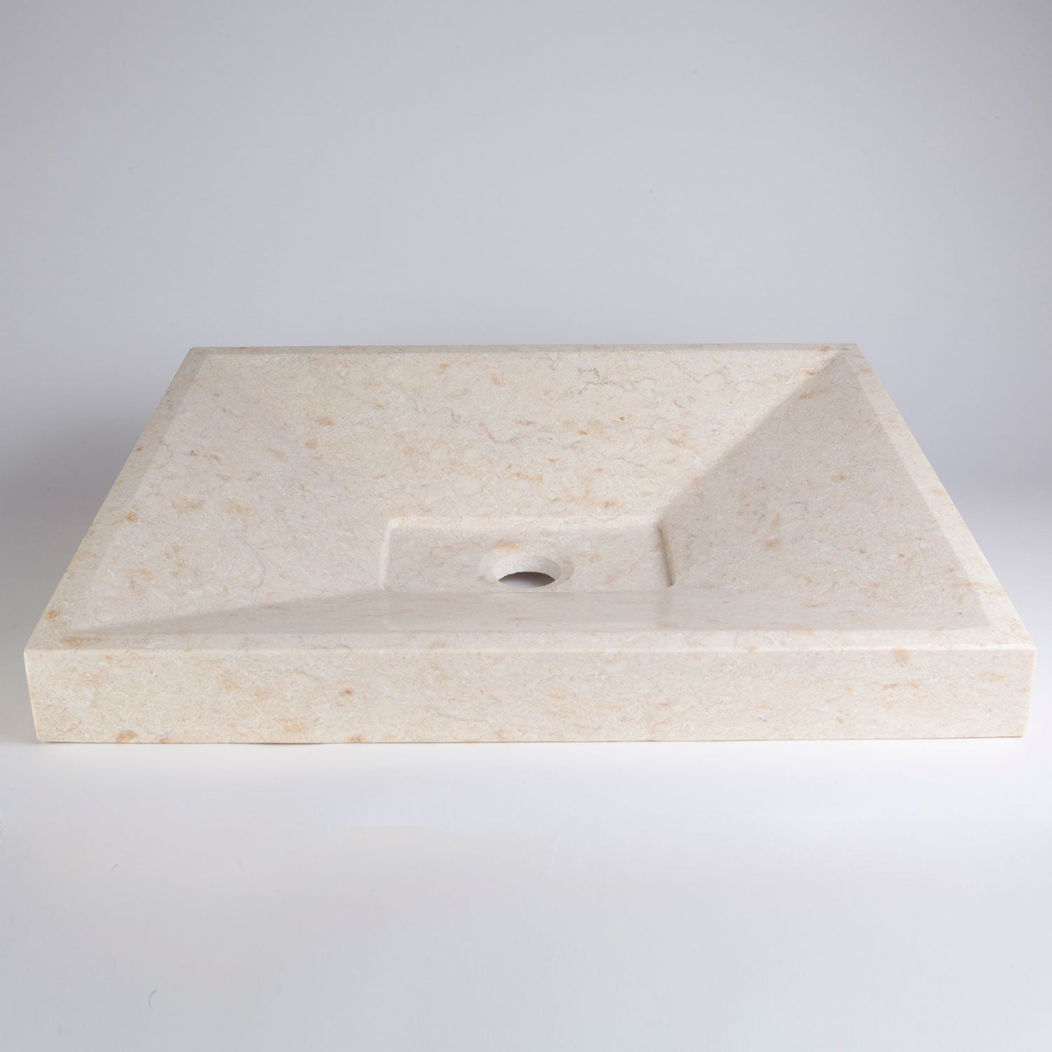 SYNC Drop-In Vessel Sink, Crema Marfil Marble