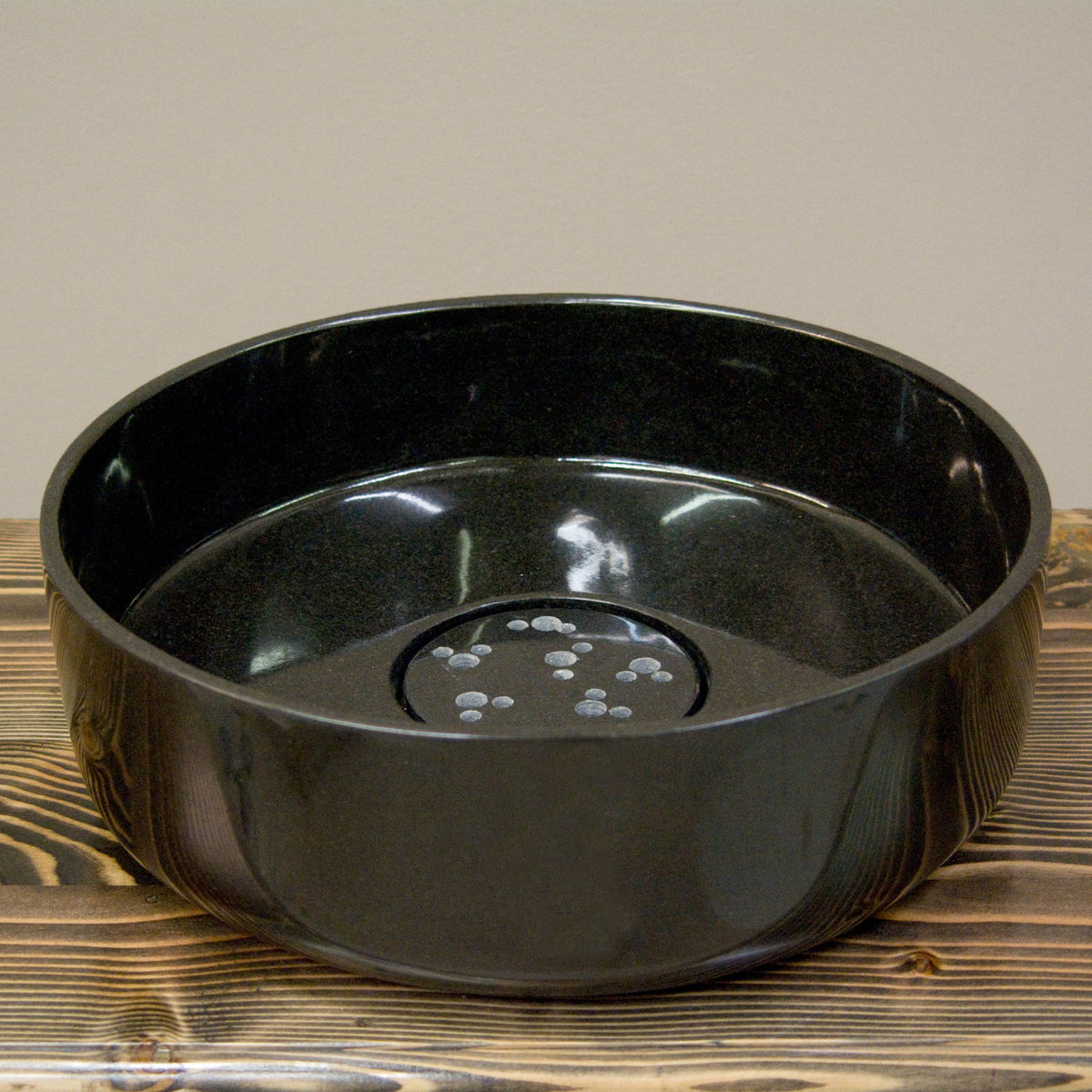 Thin Wall Vessel Sink, Black Granite