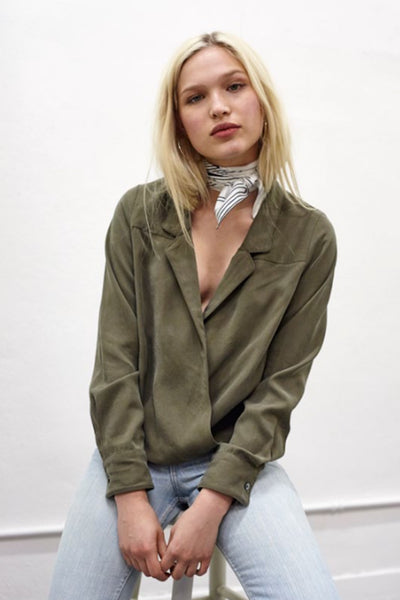 Cassidy Cross-Over Blouse