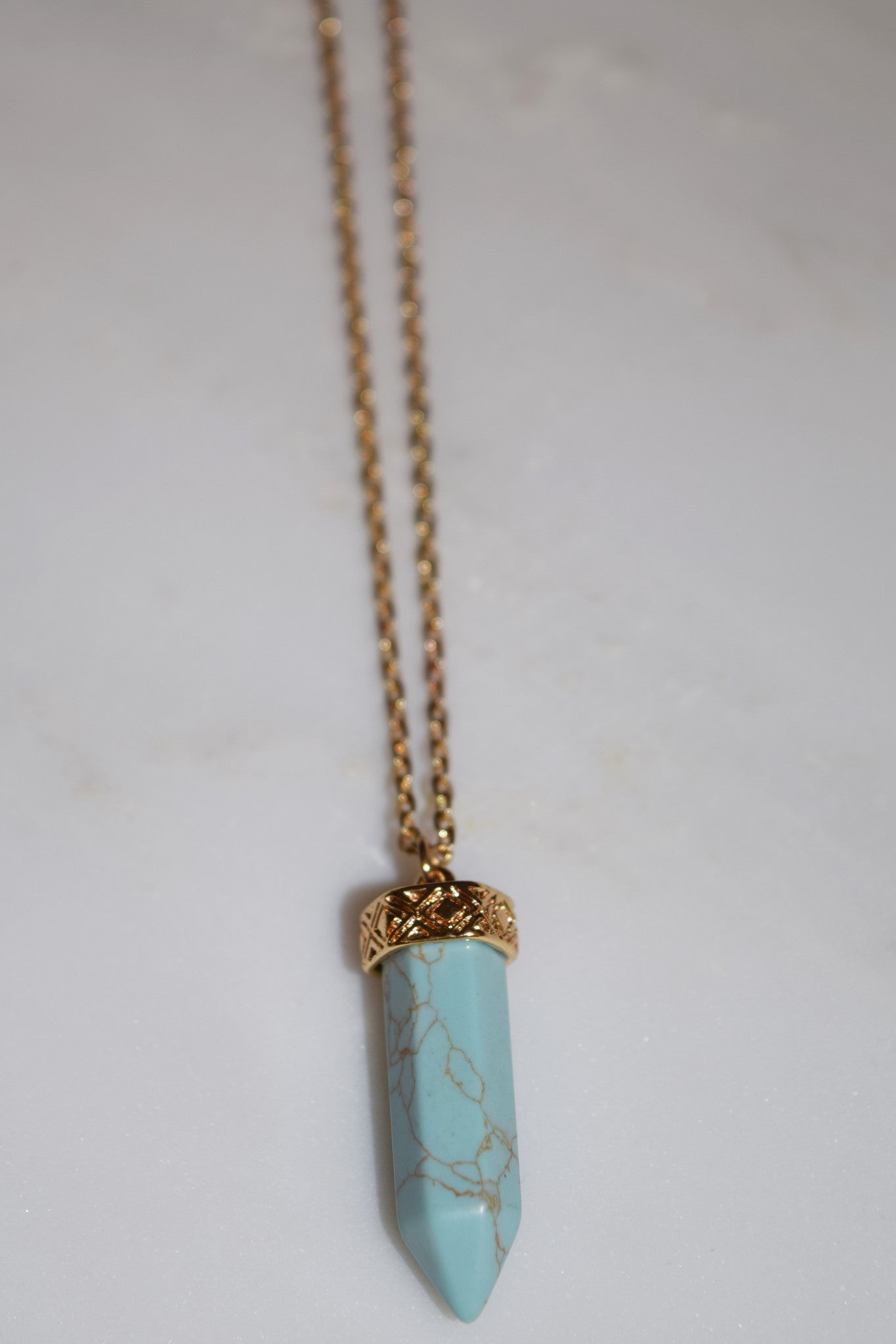 Zella Stone: Necklace - Turquoise Stone Necklace - Icco
