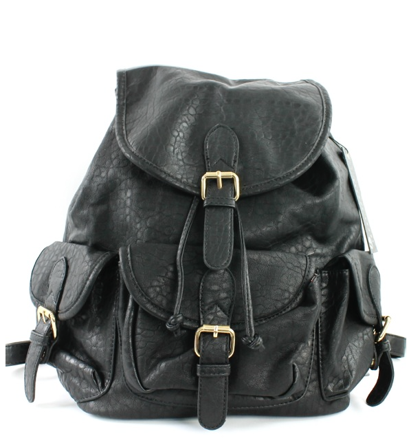 Zella Stone: Bag - Black Stud Backpack - Icco