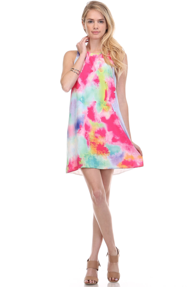 Zella Stone: Dress - Multi Colored Dress - Honey Punch