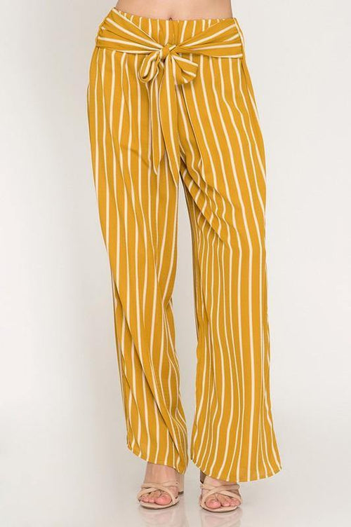 Mustard Colored Wide Leg Pants