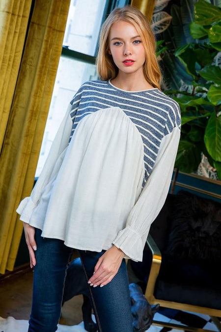 White Off Shoulder Elastic Sweatshirt