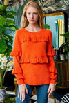 Orange Ruffled Sweater
