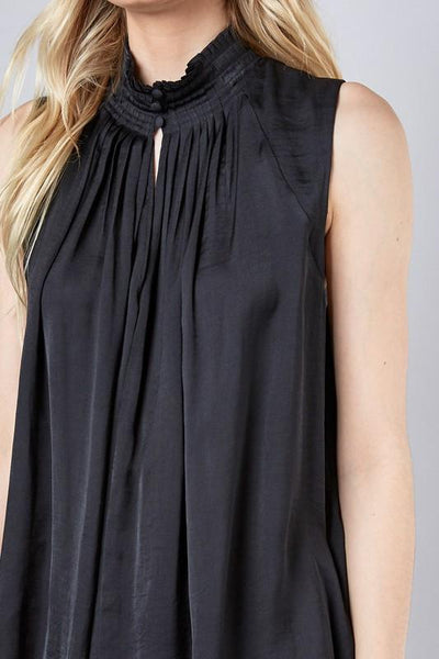 Black Pintuck Top