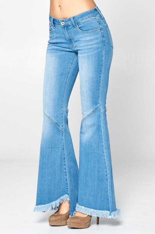 Marley Mid Rise Super Flare Jeans