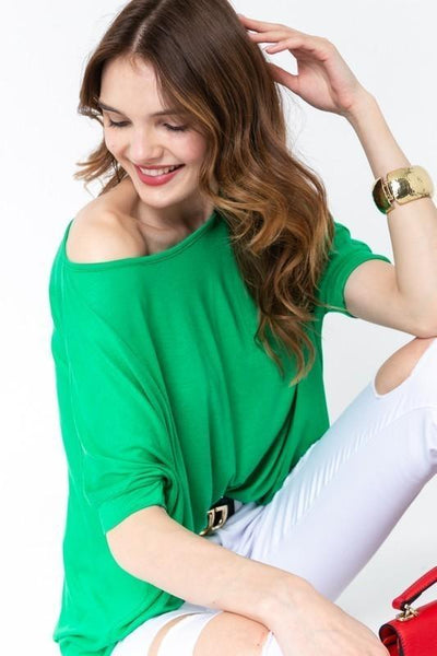 Green Oversize Casual Top