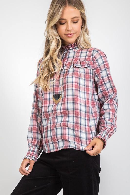 Victorian Style Plaid Top