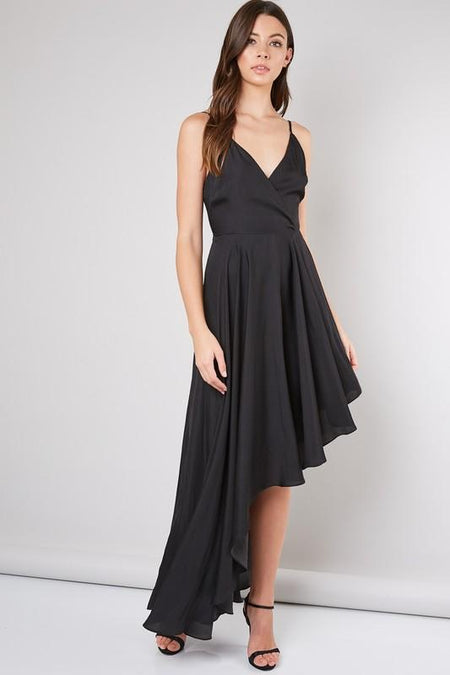 In Your Dreams One Shoulder Black Dress