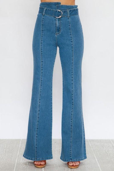 """The Sheri's"" Light Indigo Flared Pants"