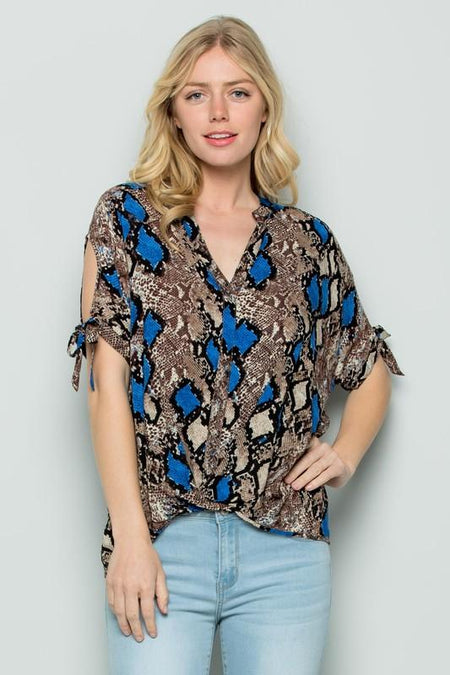 Flower Printed Embroidered Sleeveless Top