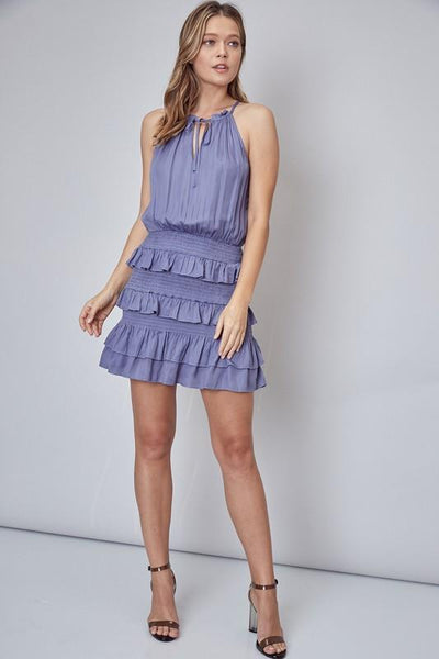 Olivia Orchid Mist Ruffle Dress