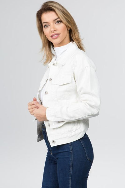 Lisa White Denim Jacket