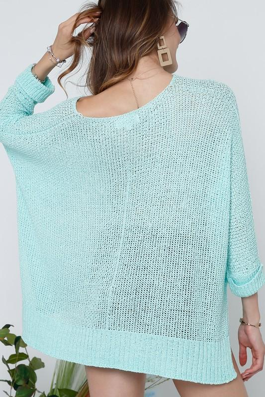Deep Mint Knitted Sweater